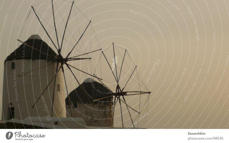 Windmills Architektur Dorf Korn Mühle