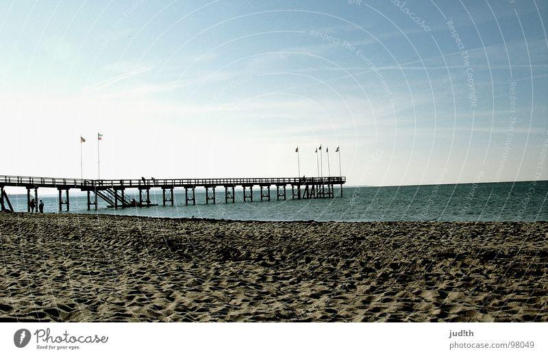 Der Weg zum Himmel Wasser Himmel Meer blau Strand Ferien & Urlaub & Reisen ruhig Wolken Wege & Pfade See Denken Sand Zufriedenheit braun Küste Wellen