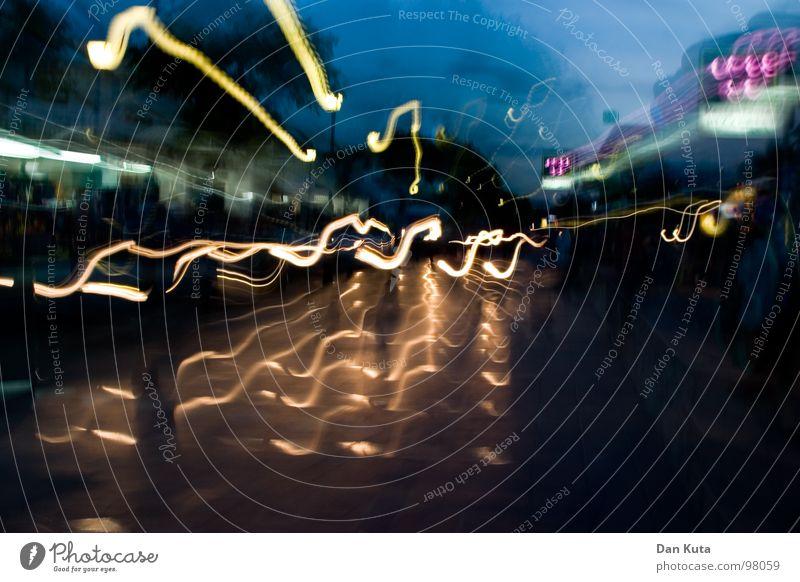 Freitag in Feierlaune Nacht wackeln Licht Streifen Ferien & Urlaub & Reisen Hauptstraße Mallorca Geschwindigkeit Alkoholisiert fest Haus taumeln Sommer Abend