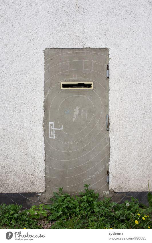 Mehr Schein als Sein Stadt Einsamkeit Wand Leben Mauer Freiheit Fassade Lifestyle Häusliches Leben Tür ästhetisch geschlossen Kreativität Idee einzigartig