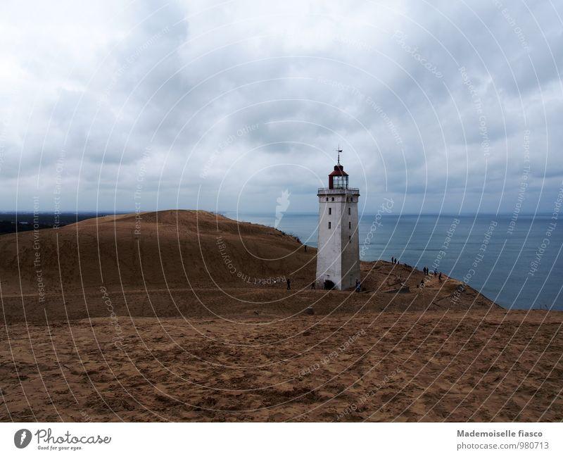 Vom Sande verweht Natur Ferien & Urlaub & Reisen alt blau weiß Wasser Meer Einsamkeit Landschaft ruhig Wolken Ferne Küste grau Freiheit