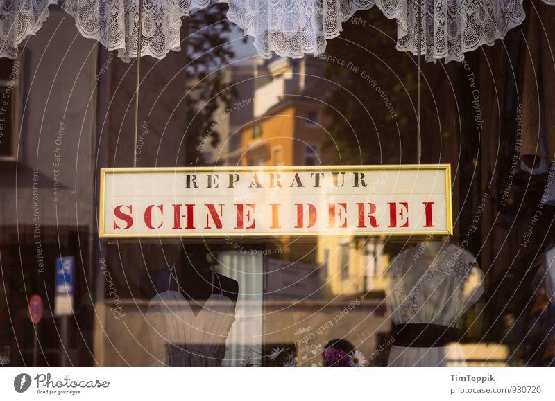 Das Retro-Schneiderlein Fenster Schilder & Markierungen retro Ladengeschäft Dienstleistungsgewerbe Handwerk Gardine Handwerker Gewerbe Reparatur Nähen
