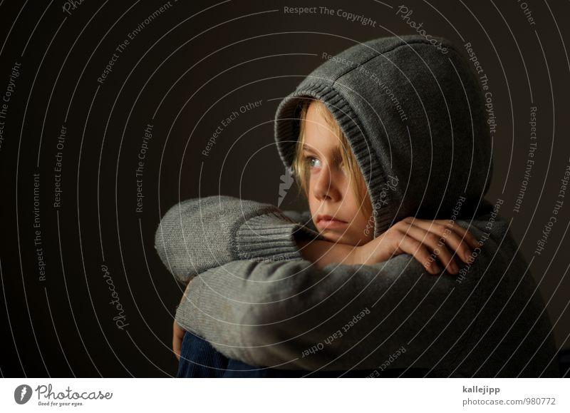 traumstunde Mensch Junge Kindheit Leben Körper Haut Kopf Haare & Frisuren Gesicht Auge Ohr Nase Mund Lippen 1 8-13 Jahre Blick träumen kaputze Armut Hand Denken