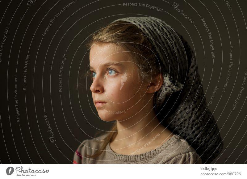 tagtraum Mensch Kind Mädchen Kindheit Leben Haut Kopf Haare & Frisuren Gesicht Auge Ohr Nase Mund Lippen 1 8-13 Jahre Blick Glaube Religion & Glaube Handtuch
