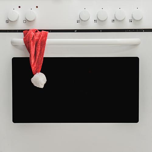 Der Ofen ist aus ... Weihnachten & Advent weiß rot lustig klein Zeit Feste & Feiern außergewöhnlich Mode Design Kreativität einfach Idee Kochen & Garen & Backen