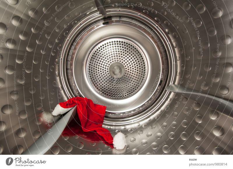 Kommando Trommele Weihnachten & Advent rot kalt lustig Feste & Feiern außergewöhnlich Metall Mode Sauberkeit rund Metallwaren Reinigen Mütze Wäsche waschen