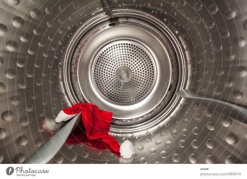 Kommando Trommele Weihnachten & Advent rot kalt lustig Feste & Feiern außergewöhnlich Metall Mode Sauberkeit rund Metallwaren Reinigen Mütze Wäsche waschen silber Waschen