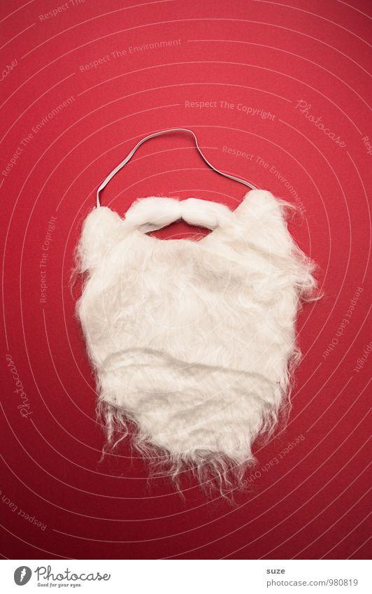 WeihMa Bastelset | Bart Weihnachten & Advent Bekleidung Arbeitsbekleidung Accessoire Maske weißhaarig Oberlippenbart Vollbart Watte außergewöhnlich einfach