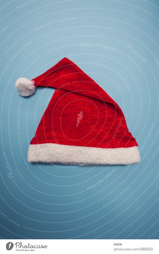 WeihMa Bastelset | Mütze Weihnachten & Advent blau rot lustig Lifestyle Mode Bekleidung einfach Stoff graphisch Mütze Tradition Weihnachtsmann Kostüm Accessoire festlich