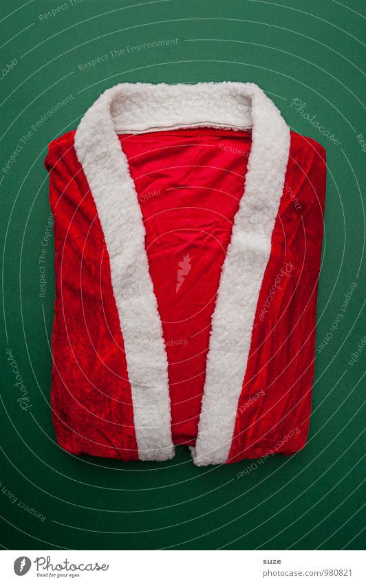 WeihMa Bastelset | Mantel Weihnachten & Advent grün weiß rot lustig Feste & Feiern außergewöhnlich Mode Design Kreativität Bekleidung einfach Zeichen Wunsch