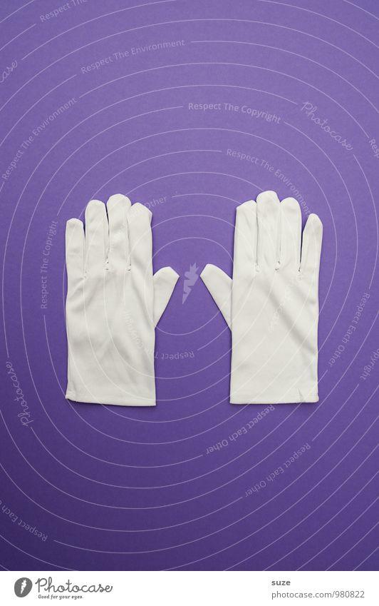 WeihMa Bastelset | Handschuhe weiß lustig Stil außergewöhnlich Mode Zusammensein Design paarweise Bekleidung Kreativität einfach Sauberkeit kaufen Zeichen Wunsch Stoff