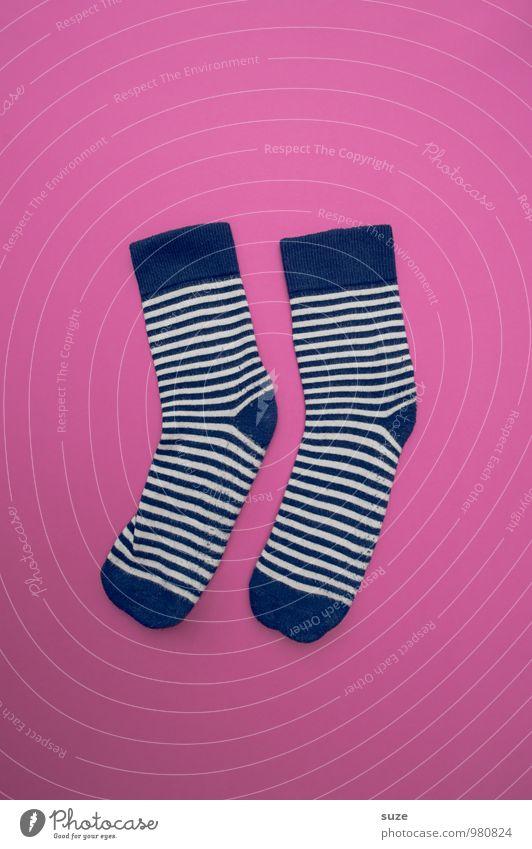 WeihMa Bastelset | Socken blau schön lustig Stil Lifestyle Mode rosa Design Freizeit & Hobby paarweise Bekleidung kaufen einfach Streifen Sauberkeit