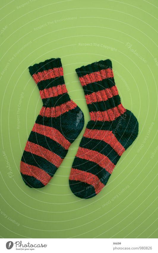 WeihMa Bastelset | Socken dick Weihnachten & Advent grün rot Wärme lustig Stil Feste & Feiern Mode Zusammensein Lifestyle Freizeit & Hobby Design paarweise Bekleidung Kreativität einfach