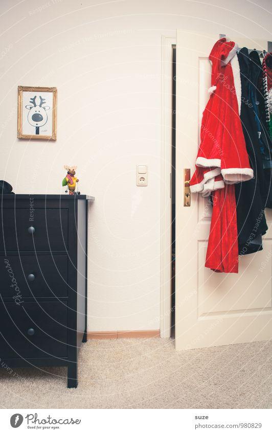 Eine Weihnachtsgeschichte Weihnachten & Advent weiß rot lustig Stil Feste & Feiern Mode Raum Häusliches Leben Tür Design Bekleidung niedlich Kreativität Zeichen Wunsch