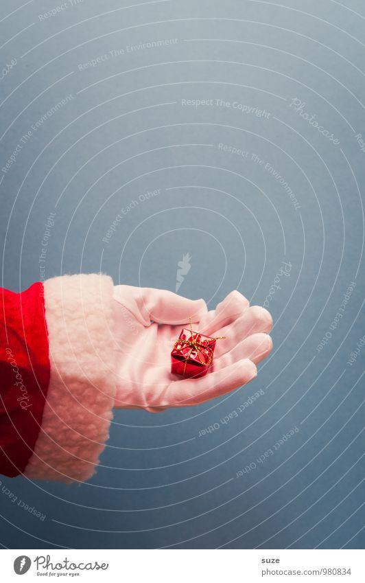 Klein und fein Weihnachten & Advent blau schön weiß Hand rot Stil klein Feste & Feiern Design Kreativität Bekleidung Geschenk einfach niedlich Zeichen