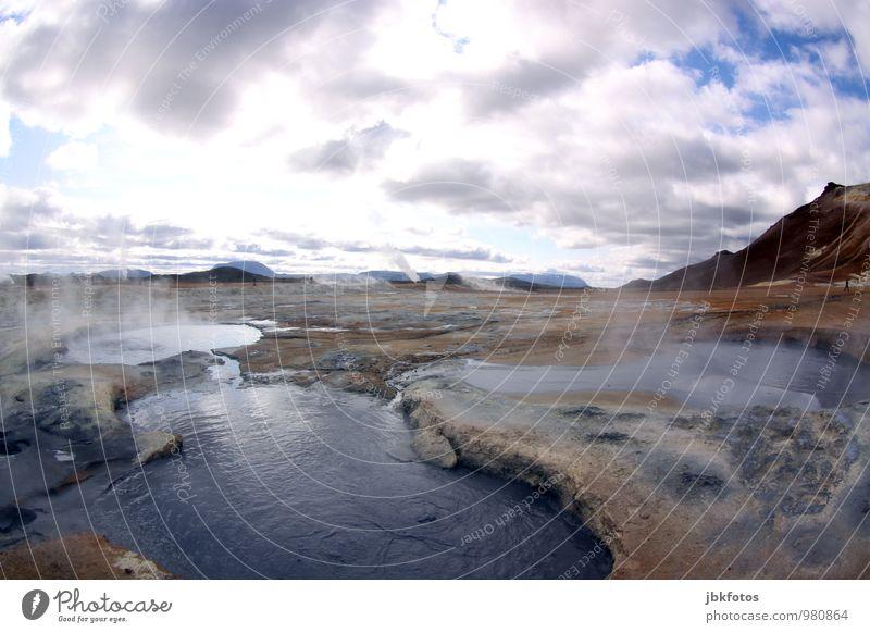 "Schlammbad ""vorgewärmt"" Umwelt Natur Landschaft Urelemente Sand Feuer Klima Wärme Optimismus Namafjall Krafla Vulkan vulkanisch mud pots Energie Geothermik"