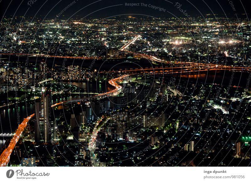 Tokio Stadt Straße Wege & Pfade Horizont Energiewirtschaft Verkehr Technik & Technologie fantastisch Zukunft Asien Skyline Autobahn Japan Autofahren Fortschritt