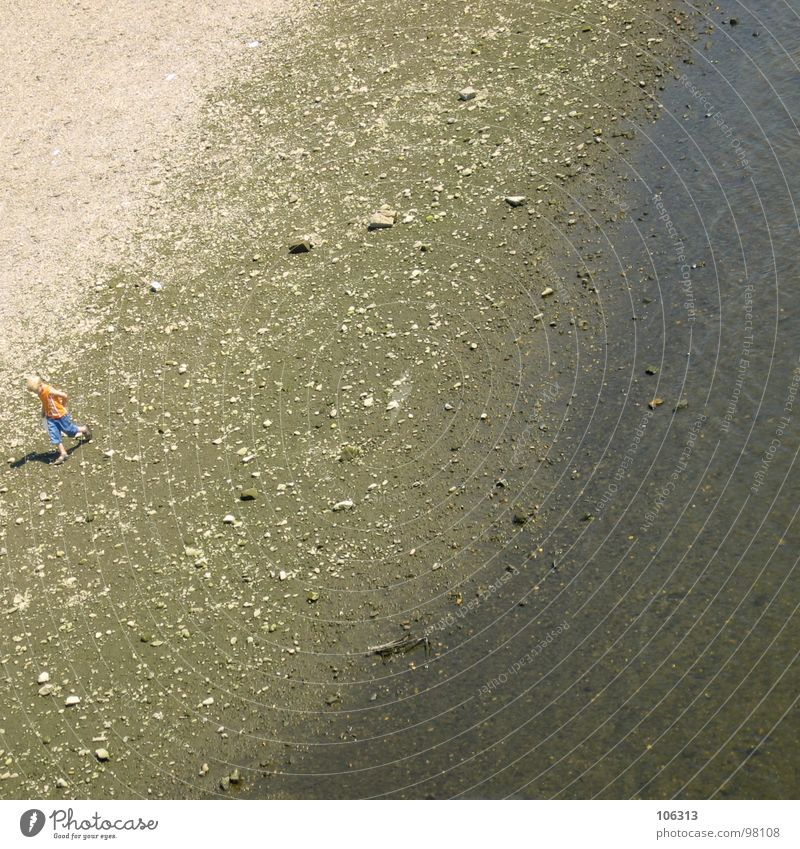 BEACH BOY Wasser Meer Strand Spielen Stein See Sand Küste laufen Suche Fluss Spaziergang Illusion