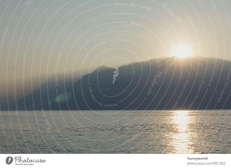 another sunset Wellness Erholung ruhig Meditation Ferien & Urlaub & Reisen Tourismus Sommer Sommerurlaub Idylle See Seele Berge u. Gebirge Wasser Italien