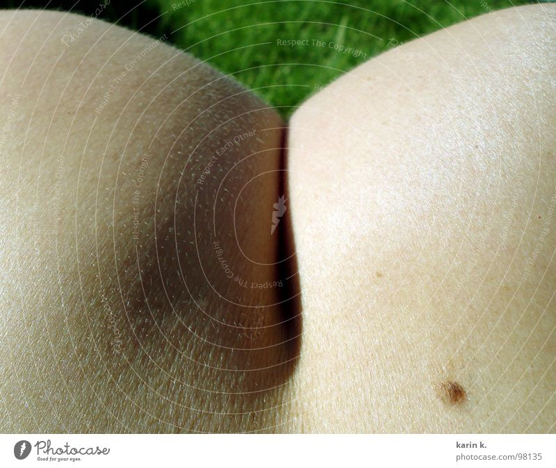 knackige ...Schultern Akt Haut Gesäß Bildausschnitt Anschnitt Leberfleck kopflos Nackte Haut