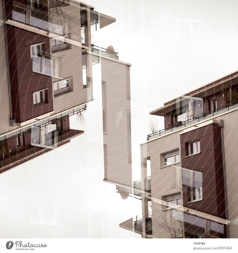 Doppelhaushälfte Haus Bauwerk Gebäude Architektur Fassade Häusliches Leben außergewöhnlich trendy einzigartig modern neu verrückt Design Perspektive