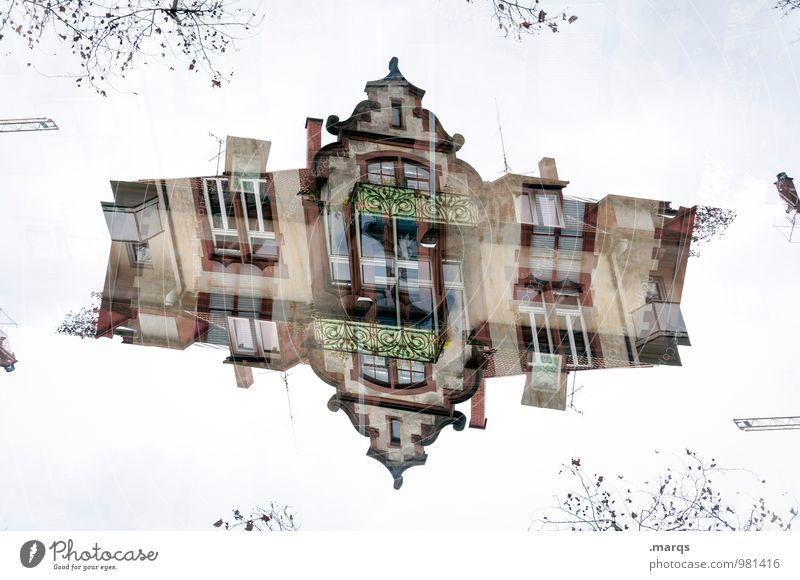 Traumhaus alt Haus Architektur Gebäude außergewöhnlich Häusliches Leben Perspektive verrückt Irritation Surrealismus Doppelbelichtung Symmetrie Einfamilienhaus