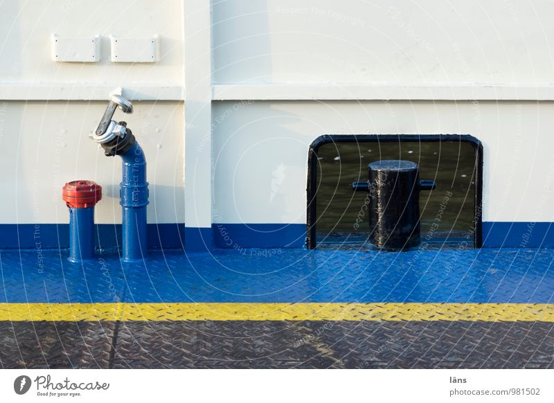 Verbindung blau weiß Wasserfahrzeug Stahl Personenverkehr Fähre maritim