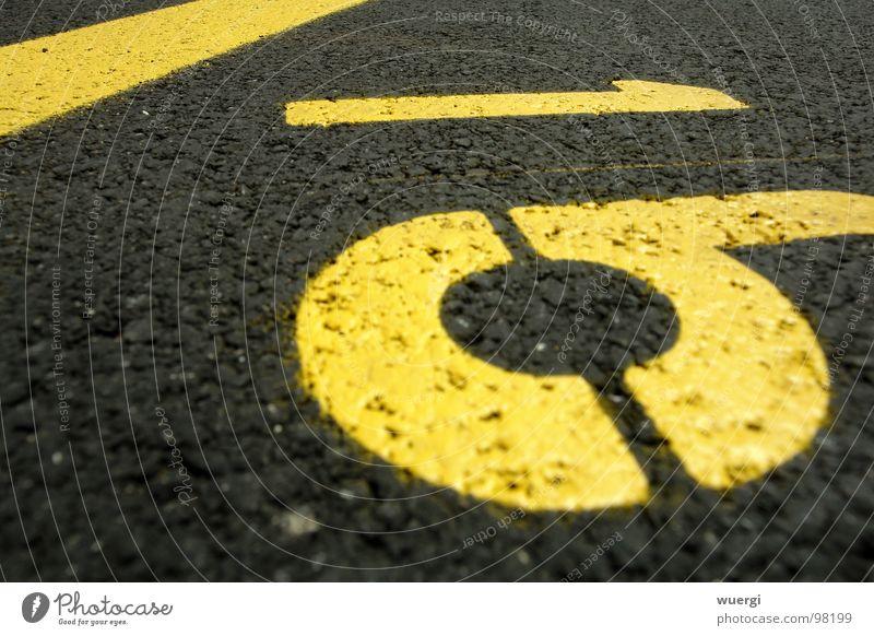 nummer 16 schwarz gelb Ziffern & Zahlen Parkplatz 16