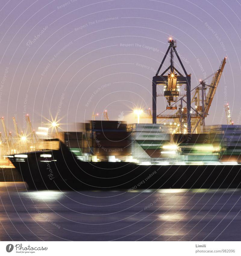 Heimathafen Hamburg Stadt Wasser Meer Ferne Arbeit & Erwerbstätigkeit Verkehr Technik & Technologie Industrie Güterverkehr & Logistik Fluss Hafen Flussufer