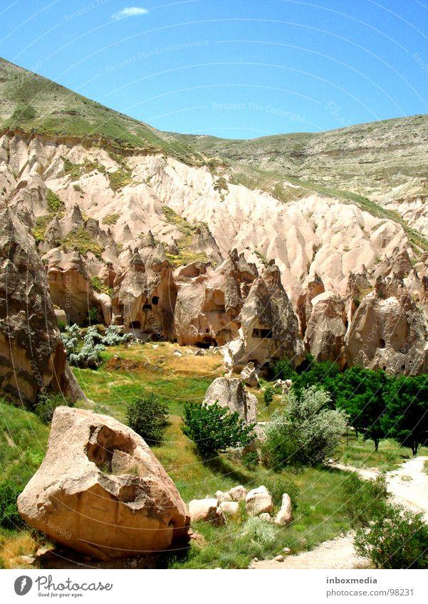 Höhlenvalley Türkei Cappadocia Europa Erosion Wohnung Steppe Lava Explosion Höhlenwohnung Kulisse Star Wars Zeitreise Einsamkeit Außenaufnahme Berge u. Gebirge