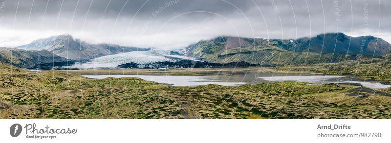 Island Himmel Natur Ferien & Urlaub & Reisen grün Wasser Landschaft Wolken Ferne Berge u. Gebirge See Felsen Erde Tourismus Sträucher Ausflug nass