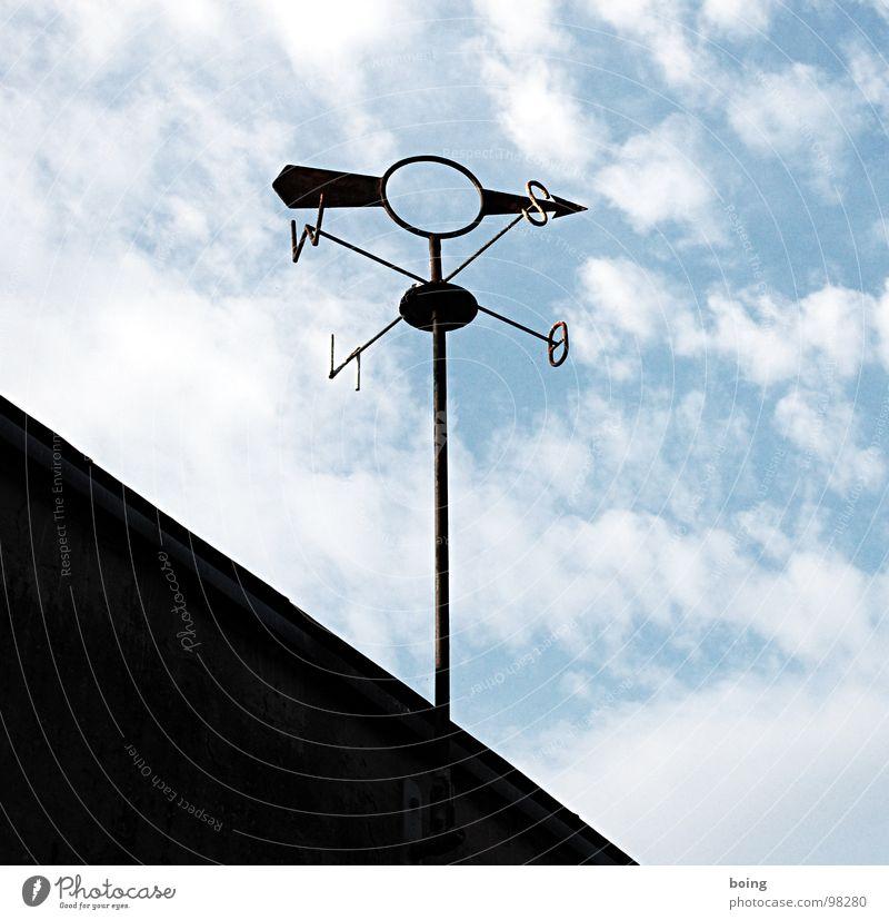 frischer Wind Himmel ruhig Wetter Wind Klima Schilder & Markierungen Ziel Zeichen Pfeil Wissenschaften Sturm Windkraftanlage Richtung zeigen wehen ziehen