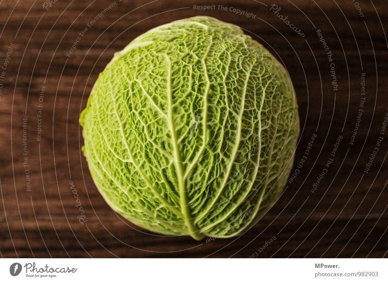 Wirsing Lebensmittel Ernährung Bioprodukte Vegetarische Ernährung lecker Gemüse Gesunde Ernährung Gesundheit Gefäße Strukturen & Formen grün vitaminreich