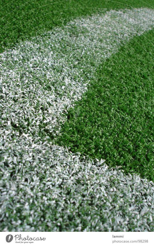 Ecke weiß grün Fuß Fußball Kunst Ball Rasen Kunststoff Pulver Ballsport Kunstrasen