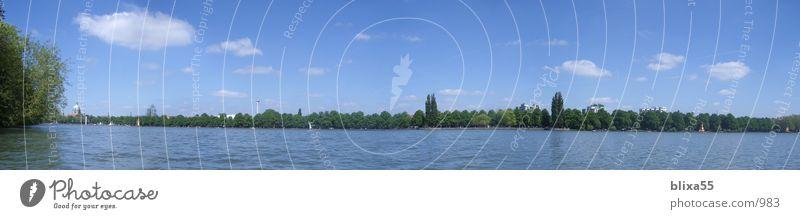 Panorama Maschsee Hannover See Panorama (Aussicht) Sommer Wolken Erholungsgebiet Himmel Wasser Ferne lake water width machine lake clouds sky local recreation