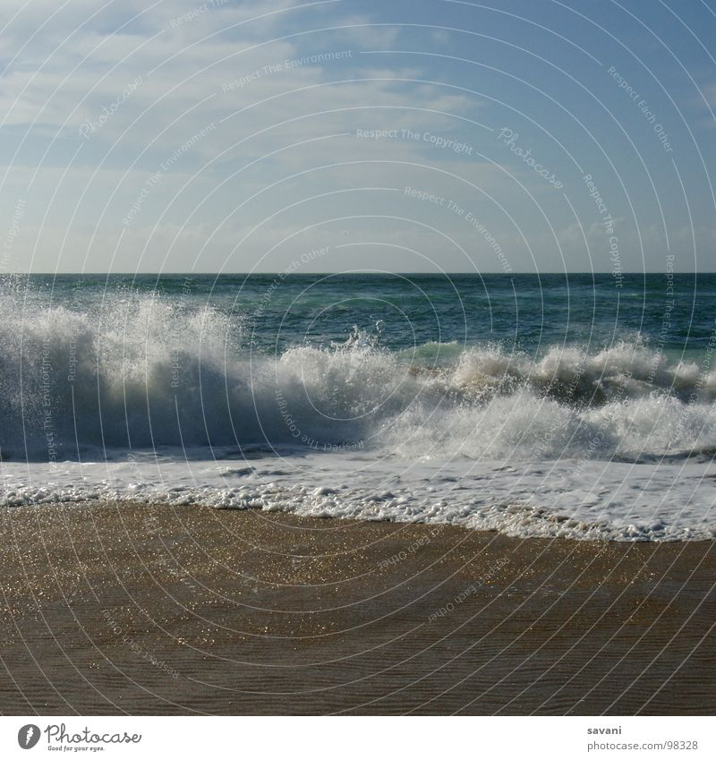 Seaside II Himmel Natur blau Wasser Ferien & Urlaub & Reisen Sommer Meer Strand Erholung Ferne Wärme Bewegung Küste Freiheit Sand Horizont