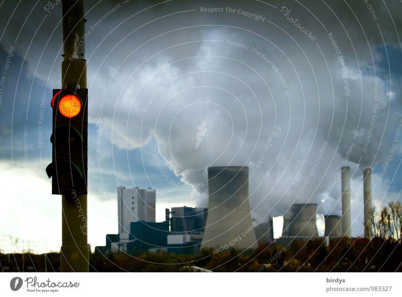 Ausstieg aus der Kohlekraft Energiewirtschaft Kohlekraftwerk Kohlerevier Wolken Klimawandel Industrieanlage Kohlekraftwerk Niederaußem Kühlturm Schornstein