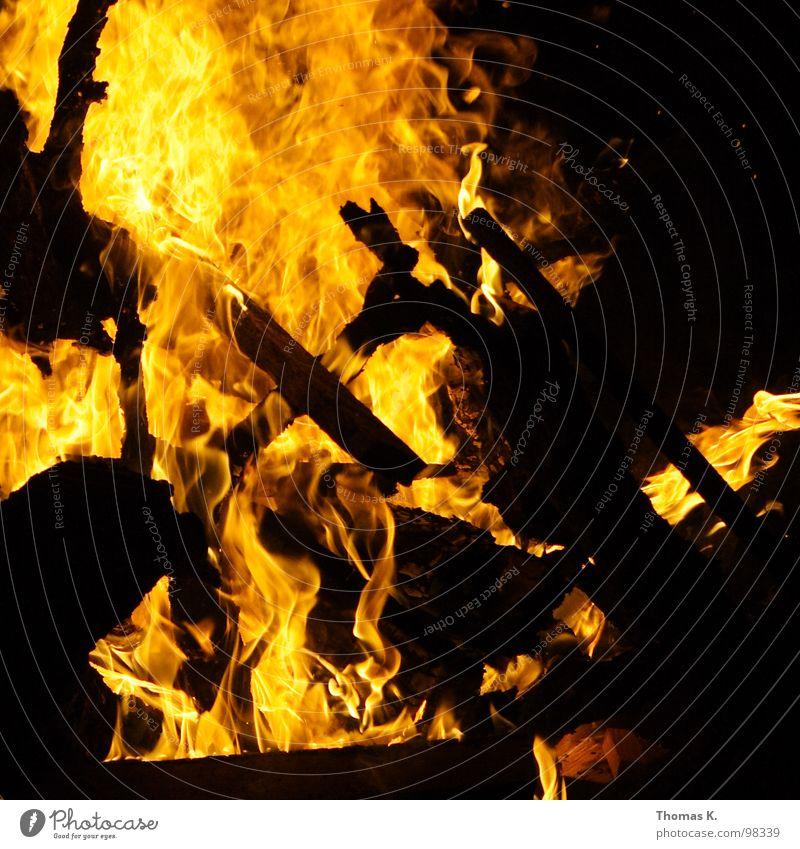 Super Feuer / oder : Die Probe aufs Exempel Brand leer Müll Gastronomie Flamme nichtssagend