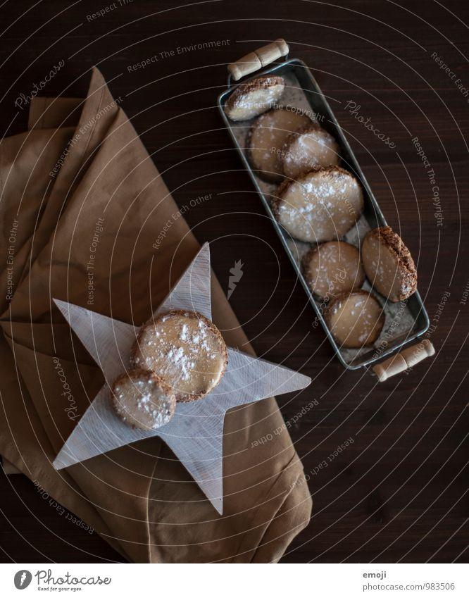 Zimtkekse Teigwaren Backwaren Dessert Süßwaren Ernährung Kaffeetrinken Slowfood Fingerfood lecker süß Keks Weihnachten & Advent Farbfoto Innenaufnahme