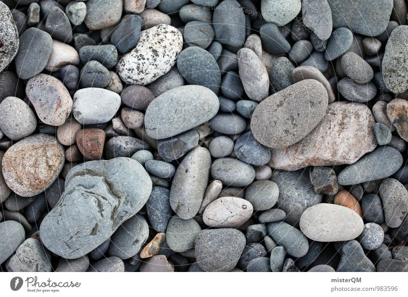 idyllic stones. Natur ruhig Strand Wege & Pfade grau Hintergrundbild Stein Kunst Idylle Zufriedenheit ästhetisch Boden viele steinig Kieselsteine neutral