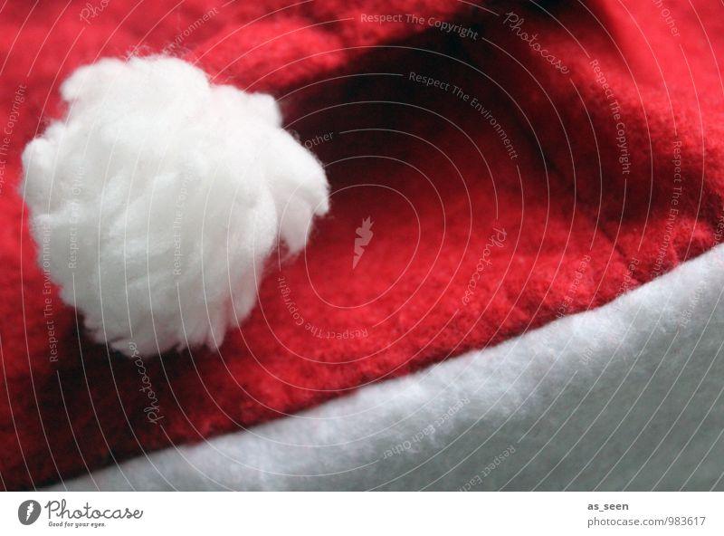 Santa II verkleiden Feste & Feiern Weihnachten & Advent Beruf Winter Bekleidung Mütze Nikolausmütze Freundlichkeit groß lustig modern weich rot weiß Vorfreude