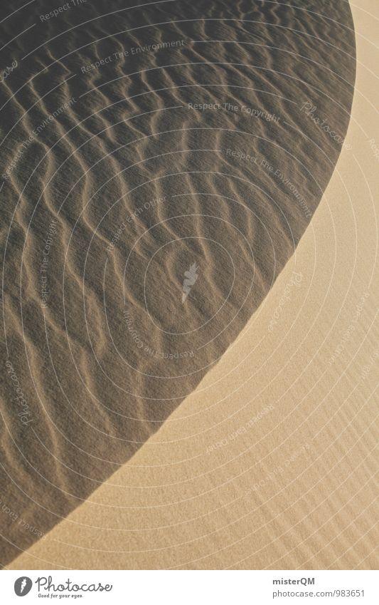symmetry of nature. Natur Sommer Landschaft Umwelt Wärme Sand Kunst Idylle Zufriedenheit Wind ästhetisch Urelemente Wüste Stranddüne Klimawandel Symmetrie