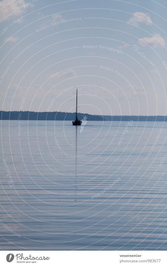 sailin' home Ausflug Ferne Freiheit Sommer Segeln Himmel Horizont See Vänern entdecken Erholung Unendlichkeit blau Stimmung Lebensfreude ruhig authentisch