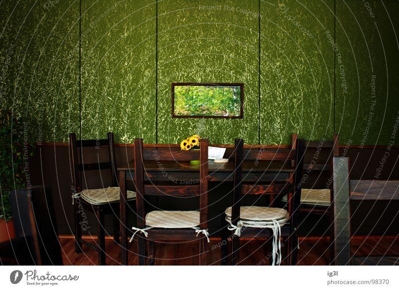 business meeting #724 Stuhl Sitzgelegenheit Pause ruhig Holz Holzmehl Polster Wand lang Stabilität Reichtum Strebe Muster glänzend Beleuchtung braun Bodenbelag
