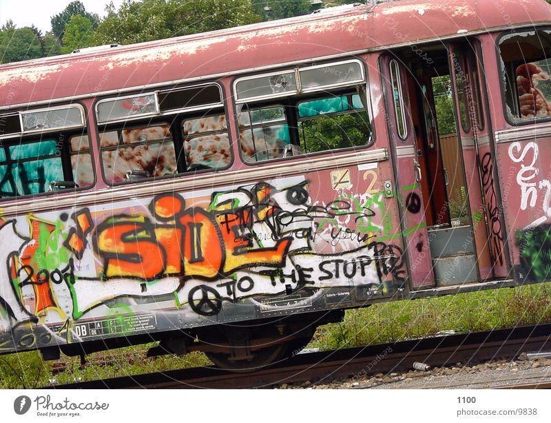 Schienenbus Eisenbahn Fototechnik Graffity