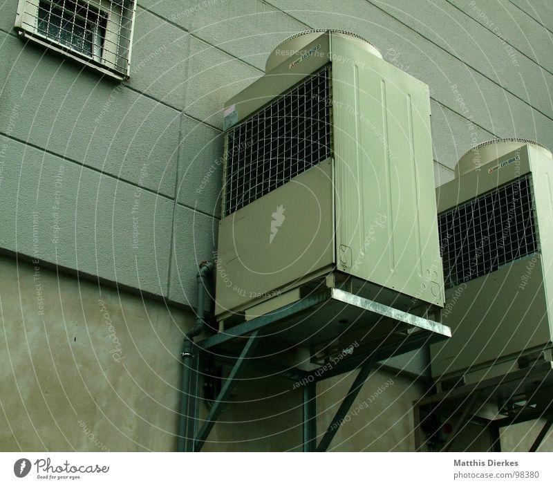FRISCHLUFT Stadt Haus Gebäude Luft Umwelt Beton Industrie modern Elektrizität Abgas Umweltverschmutzung Gewerbe Lüftung Kosten Belüftung