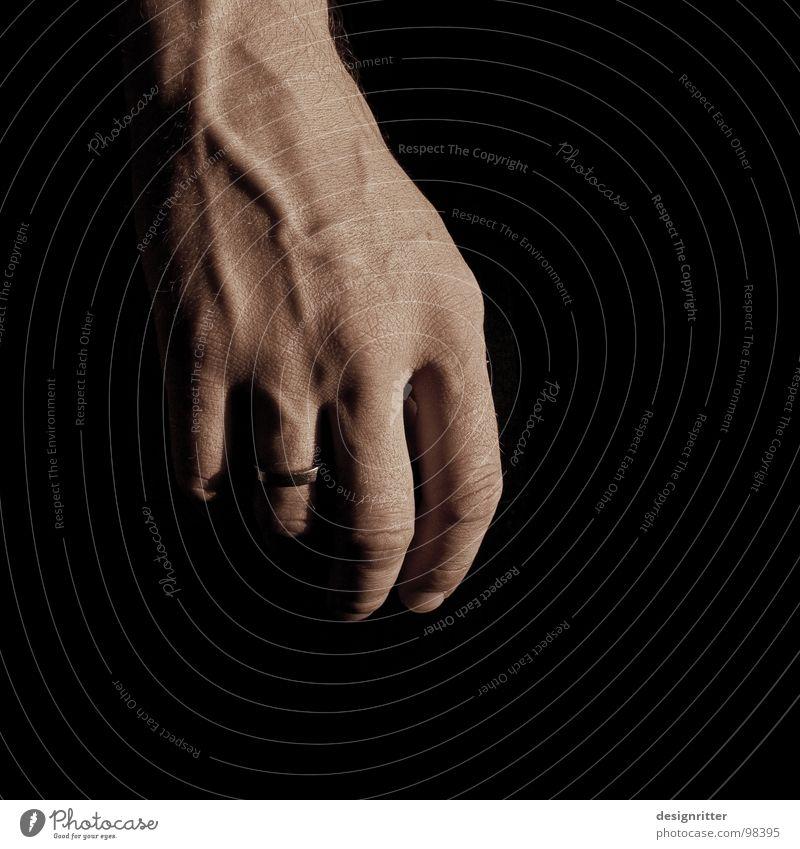 Das Licht 3 Hand dunkel hell Kraft Kreis Müdigkeit stark Schwäche