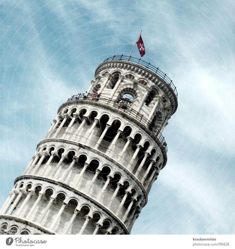echt schräg Sommer Ferien & Urlaub & Reisen Kunst Tourismus Italien fallen Etage Bauwerk Sturz Toskana umfallen Sehenswürdigkeit Studie PISA-Studie