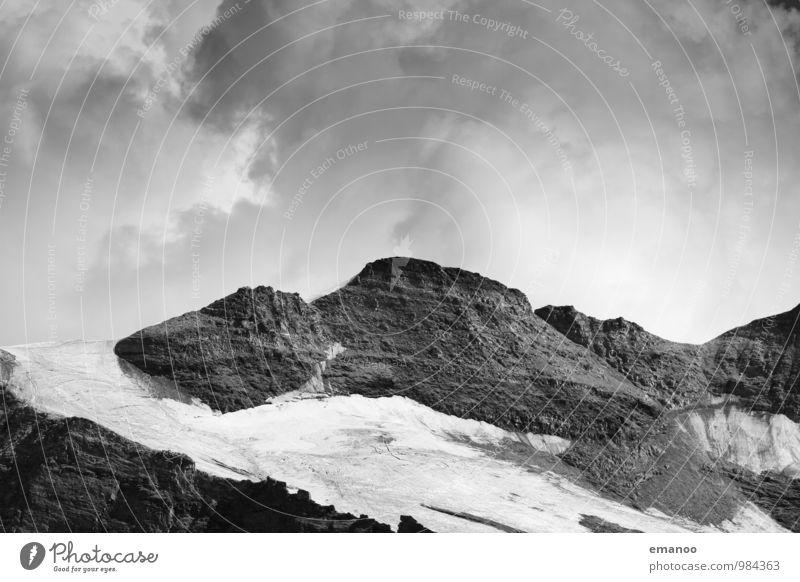 graue Berge Ferien & Urlaub & Reisen Ausflug Abenteuer Expedition Winter Schnee Berge u. Gebirge wandern Natur Landschaft Luft Himmel Wolken Klima Wetter