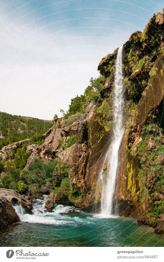 Paradies Wellness harmonisch Erholung Schwimmen & Baden Umwelt Natur Landschaft Wasser Wassertropfen Sommer Klima Klimawandel Schönes Wetter Schlucht Fluss Krka